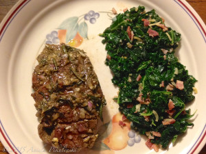 Steamed Kale with Bacon