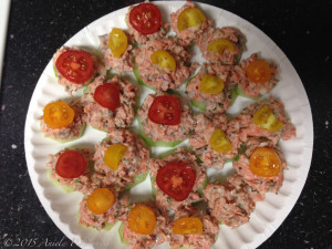 Cucumber Salmon Hors d'oeuvres