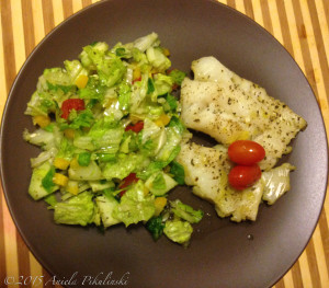 Cod Filets Poached in White Wine